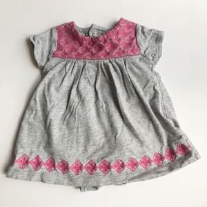 Carters short sleeve jersey knit embroidered dress